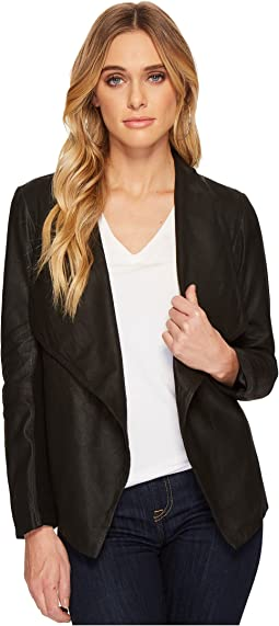 BB Dakota Rowe Drape Front Leather Jacket