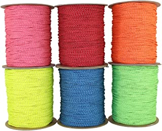 SGT KNOTS Spectra Cord (1.5 mm - 2.8 mm) - Low-Stretch Hi-Visibility Accessory Rope - Polyester Cover, Spectra Core - for Hammocks, Tie-Downs, Camping, Survival, Boot Laces, More (25 ft - 100 ft)