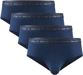 DAVID ARCHY Men's Boxers, Men's Briefs, Men's Trunks Underwear Micro Modal Men's Boxer Shorts Multipack, Ultra Soft and Co...