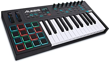 Alesis VI25   25-Key USB MIDI Keyboard Controller with 16 Pads, 16 Assignable Knobs, 48 Buttons and 5-Pin MIDI Out Plus Production Software Included