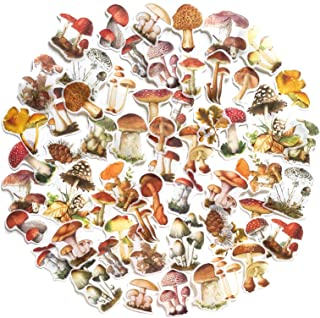 60PCS Mushroom Laptop Stickers Decals, Doraking DIY Mushroom Plants Decoration Stickers Decals for Windows, Refrigerator, ...