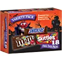 18-Count Snickers, M&M'S & Skittles Halloween Chocolate Candy Variety Mix