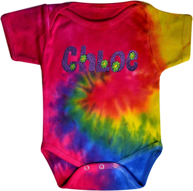 candy rainbow ice dye organic cotton baby onesie for newborn Tie dye baby onesie 0-3 months gift for baby shower or unisex baby gift