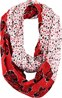Zoozats Adult NCAA Patterned Team Logo Infinity Scarf
