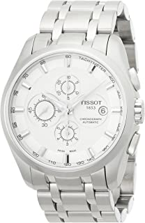 mens Couturier Chrono Auto Stainless Steel Dress Watch Grey T0356271103100