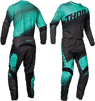 Thor Mx Adulto Motocross Jersey y pantalón Sector VAPOR 2021 Adultos Race Suit Quad Bike Trial ATV BMX Off Road Enduro camisa y pantalones Conjunto ...