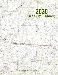 2020 Weekly Planner: Sedalia, Missouri (1973): Vintage Topo Map Cover