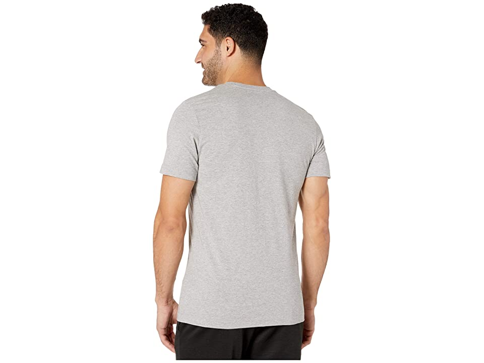 adidas Essentials Camo Linear Tee (Medium Grey Heather/Black/Grey Five/Grey Three) Men's T Shirt, Gray