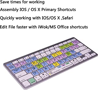 Work Efficiency iOS Mac OS X OSX Finder iWork Functional Shortcuts Hotkey Wireless Bluetooth Keyboard for iMac Mac Pro MacBook Pro,iPad Pro 11 12.9, iPad Air Mini,iPhone X XS XR MAX Bluetooth Devices