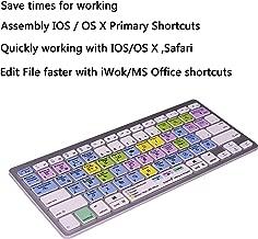 Work Efficiency iOS Mac OS X OSX Finder iWork Functional Shortcuts Hotkey Wireless Bluetooth Keyboard for iMac Mac Pro MacBook Pro,iPad Pro 11 12.9, iPad Air Mini,iPhone X XS XR MAX Bluetooth Devices