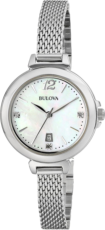 Quality inspection Bulova Women's 96P150 Diamond Gallery Analog ...