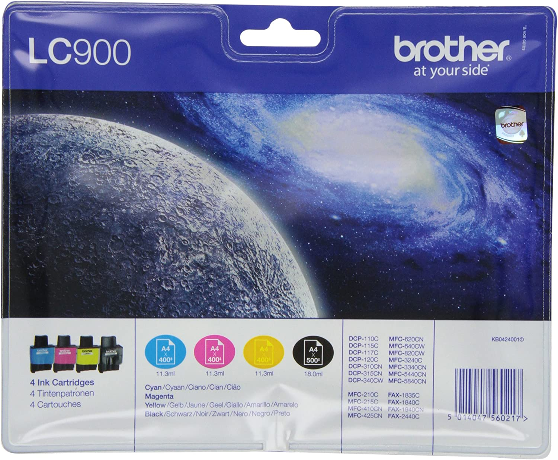 Brother Lc 900 Original Tintenpatronen Value Pack Kompatibel Mit Verschiedenen Brother Dcp Und Mfc Modellen Bürobedarf Schreibwaren