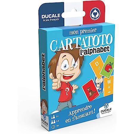 Ducale, le jeu français- Cartatoto Jeu de Cartes éducatif-Apprendre Les Lettres de l'alphabet, 10006522