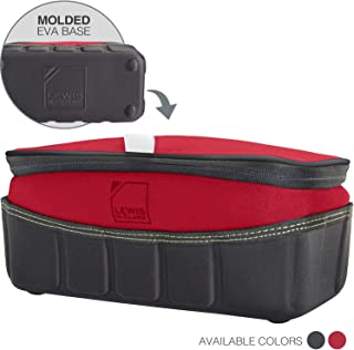 Lewis N. Clark Travelflex Toiletry Kit, Makeup Bag, Shower Caddy + Travel Organizer for Luggage, Carry-on or Suitcase, Open Zip Top, Red