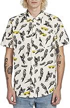 Volcom Men's Bird Toss Button Up Short Sleeve Shirt