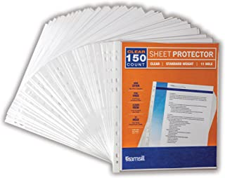 Samsill 41271 100 Clear Standard Weight Sheet Protectors Box of 150