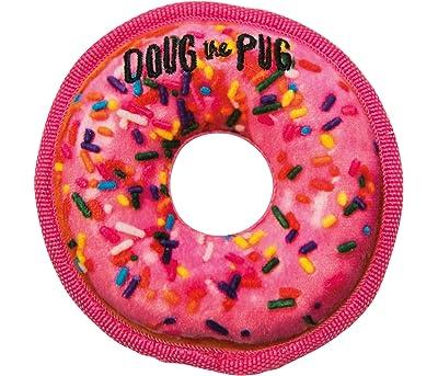 Outward Hound Doug The Pug Incrediplush Donut Squeaky Plush Dog Toy