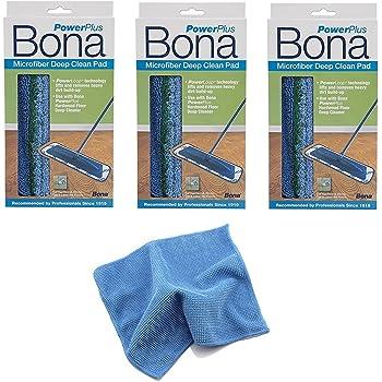 (3 Pack) Bona Hardwood Power Plus Deep Cleaning Pad