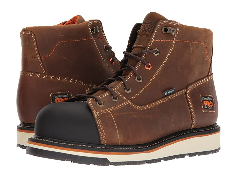 Timberland PRO Gridworks 6 Soft Toe Waterproof (Brown Full-Grain Leather) Men