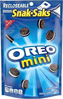 OREO Mini Chocolate Sandwich Cookies, 8 oz Snack Sak