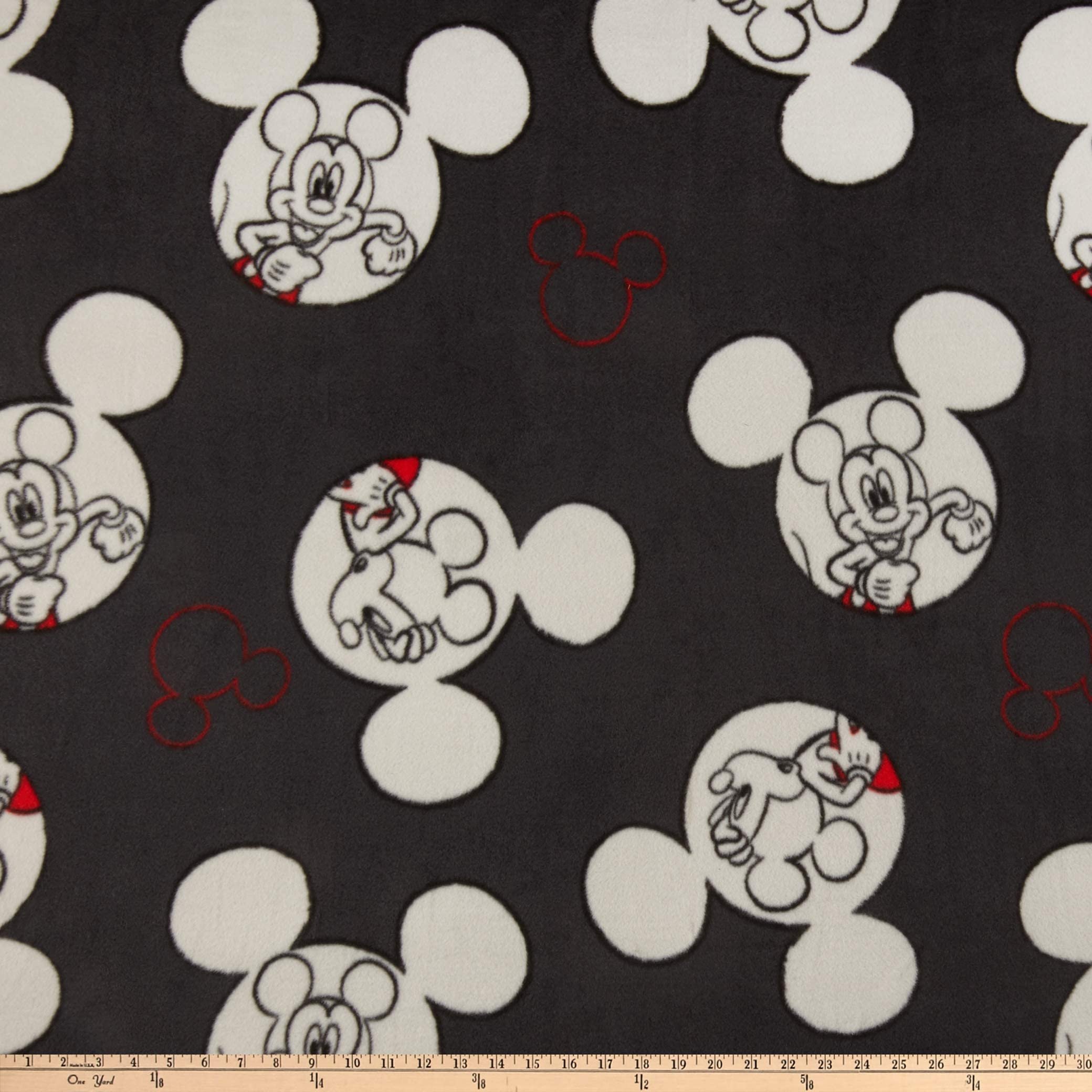 Lovely Mickey Fabric Wide 125cm Cartoon Donald Duck Cotton Fabric Stretch Twill Cotton Fabric DIY Sewing Children Clothing Pants
