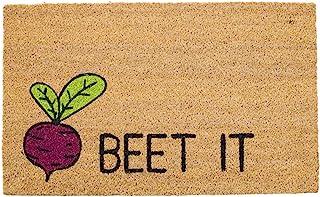 "Avera Products   Beet It, Natural Coir Fiber Doormat, Anti-Slip PVC Mat Back   29"" x 17"""