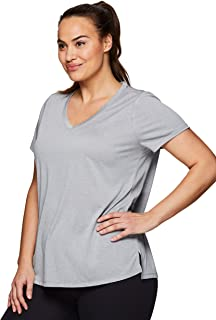 Active Women's Plus Size Running Workout Short Sleeve Yoga Top