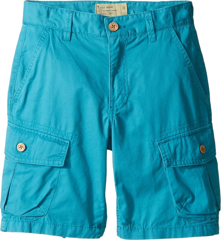 Lucky Brand Kids Boy 's Heritage Cargo Shorts In Twill ( Big Kids ) Parkaブルーショーツ