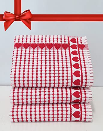 Kitchen Towels , Red Heart, Highly Absorbent, Low Lint, 100% Cotton Dish