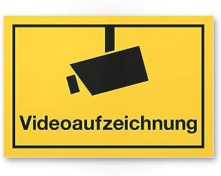 Cartel de grabación de vídeo (Amarillo, 30 x 20 cm) – Atención/