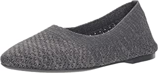 Skechers Women's Cleo-Star Daze-Metallic Engineered Knit Skimmer Ballet Flat