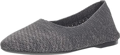Skechers Women's Cleo-Star Daze-Metallic Engineered Knit Skimmer Ballet Flat