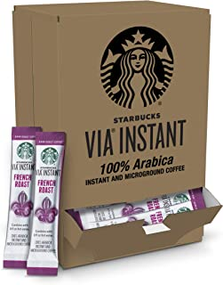 Starbucks VIA Instant French Roast Dark Roast Coffee (1 box of 50 packets)