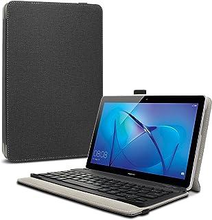 Infiland Teclado Funda Compatible for Huawei Mediapad T3 10, Ultra Fino Slim Case con Magnético Desmontable Teclado Bluetooth Inalámbrico para Huawei Mediapad T3 10 Tablet (Negro)