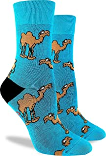 Good Luck Sock Women's Camel Crew Socks - Aqua, Adult Shoe Size 5-9
