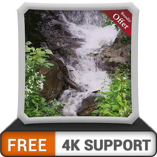 FREE Cool Waterfall HD - Decorate your room with Beautiful Scenery on your HDR 4K TV, 8K TV and Fire Devices as a wallpaper, Decoration for Christmas Holidays, Theme for Mediation & Peace