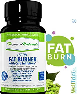 PbyN - Dr Formulated - Leptin Fat Burner with Carb Inhibitor, Metabolic Natural Weight Loss Supplement, Thermogenic Fat Burn for Men and Women, Appetite Suppressant, Carb Blocker, 60 Diet Pills