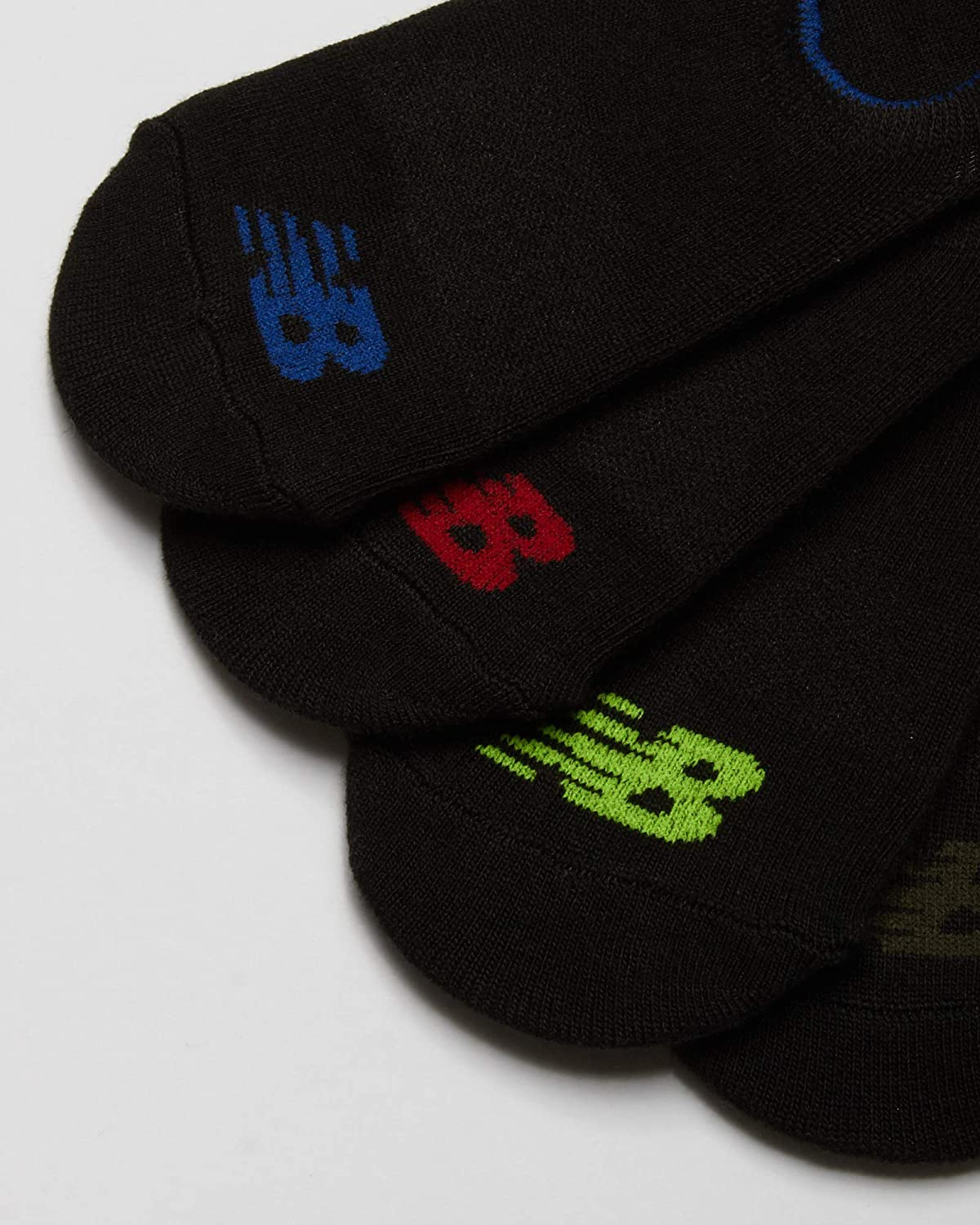 New Balance Boys' No Show Invisible Liner Socks (8 Pack)