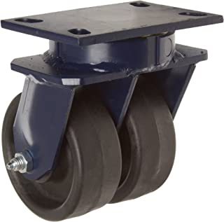 RWM Casters 75 Series Plate Caster, Swivel, Kingpinless, Phenolic Wheel, Roller Bearing, 2000 lbs Capacity, 8