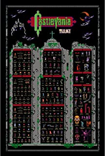 Castlevania NES Trilogy 1 2 3 Retro Style Poster Belmonts Monsters Vampires