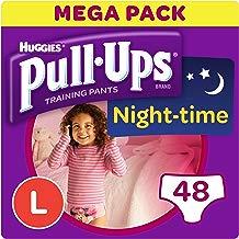 Huggies pull-ups de la noche tiempo–pantalones de entrenamiento para el orinal para las niñas, grande