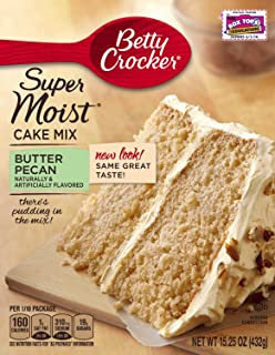 Betty Crocker Supermoist Cake, Butter Pecan, 15.25-Ounce (Pack of 4)