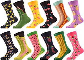 WeciBor, Calcetines para hombre de algodón con estampado de fantasía, calcetines largos y estampados famosos, a la moda, coloridos, divertidos diseños