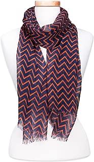 navy blue chevron scarf
