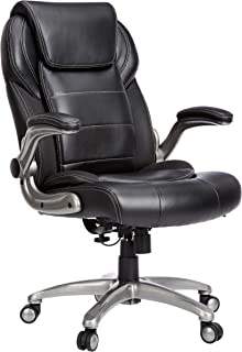 comprar comparacion AmazonBasics Extra Comfort High-Back Leather Executive Chair with Flip-Up Arms and Lumbar Support