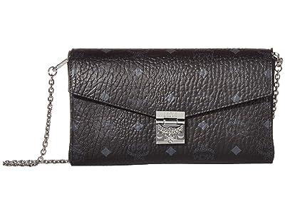 MCM Millie Visetos Small Crossbody Medium (Black) Handbags