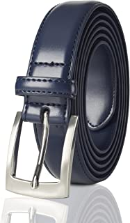 Belts for Men Mens Belt Buckle Genuine Leather Stitched Uniform Dress Belt