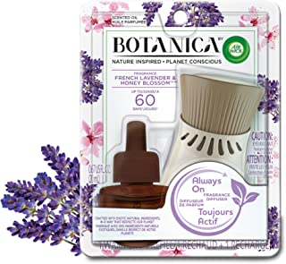 Botanica by Air Wick Plug in Scented Oil Starter Kit, 1 Warmer + 1 Refill, French Lavender and Honey Blossom, Air Freshene...