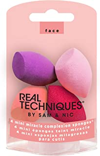 Real Techniques Mini MC Beauty Sponge (Set of 4) Latex-free Makeup Blender