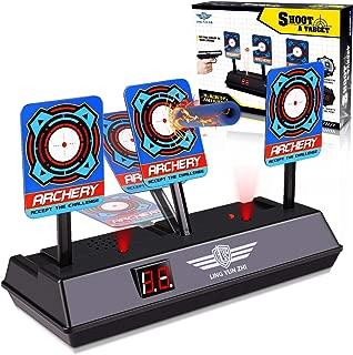 Electronic Digital Target for Nerf Gun N-Strike Elite/Mega/Rival Series - Auto-Reset Intelligent Light Sound Effect Scoring Targets Toys for Boys and Girl